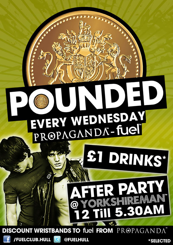 Wednesday at Fuel is pounded with selected drinks costing only £1